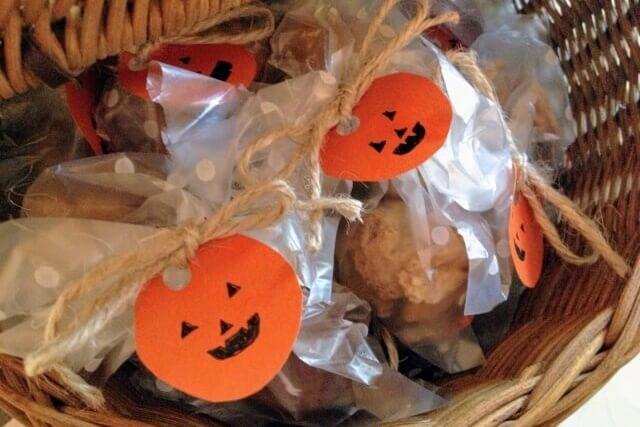 ハロウィン お菓子 手作りクッキー カゴ